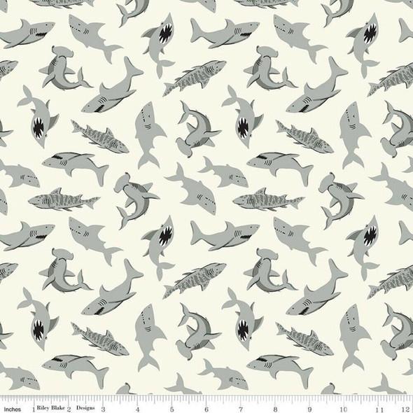 Cream Shark cotton fabrics design