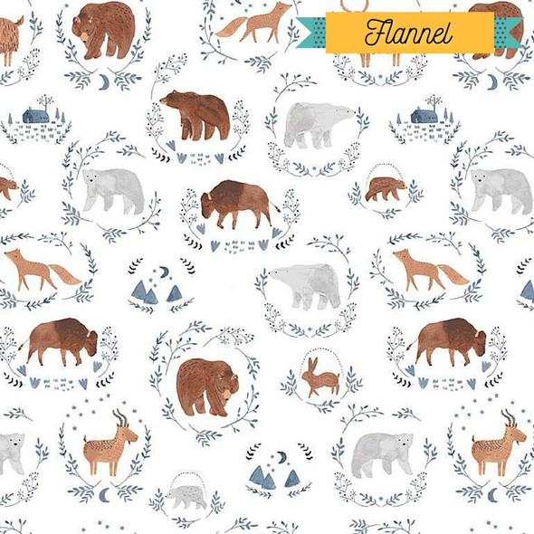 Baby Wild Animals FLANNEL fabrics design