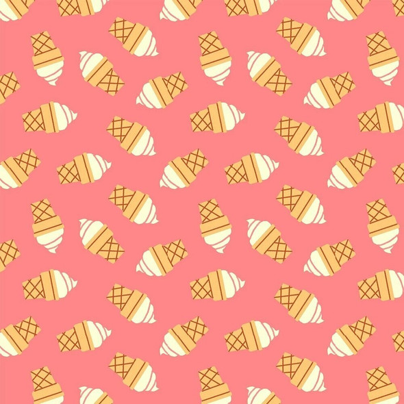 Pink Ice cream fabrics design