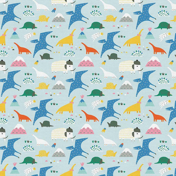 Modern kids animal Palmrise Aruba cotton fabrics design