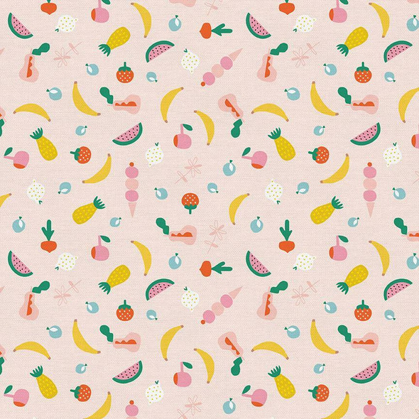 Pink summer fruit quilt cotton fabrics design