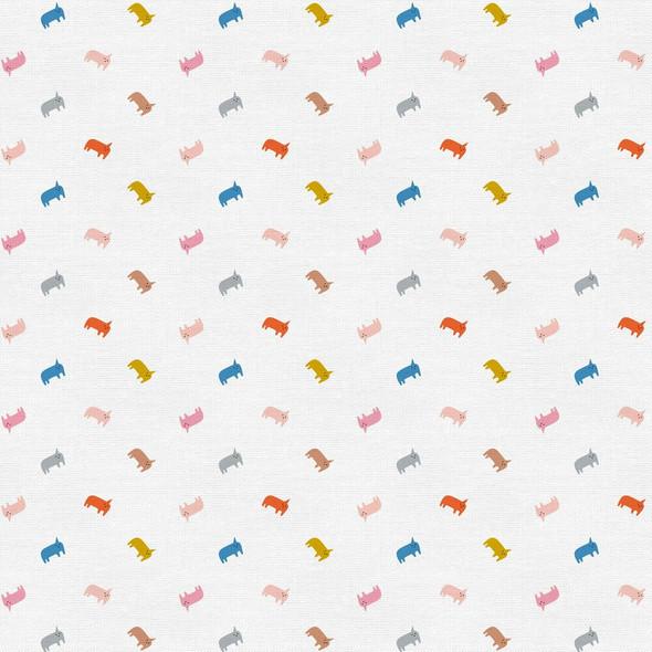 Modern animal print quilt cotton fabrics design