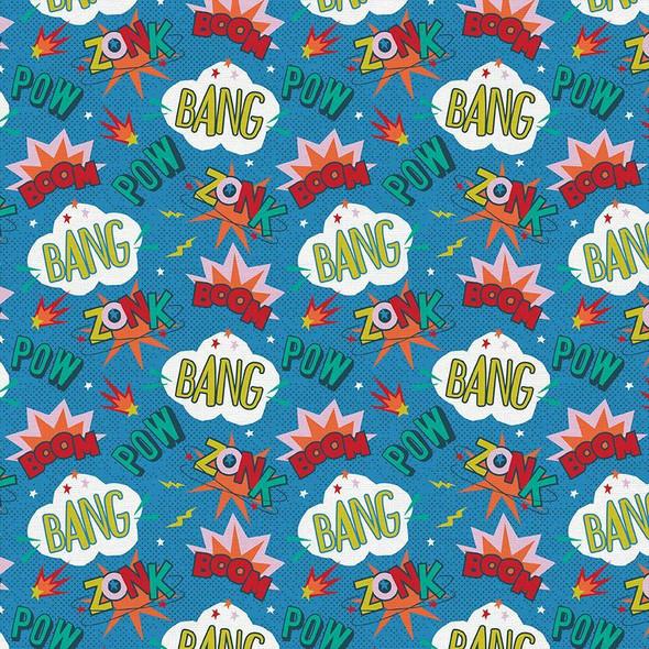 Kids superpowers Super Dinos cotton Fabrics design
