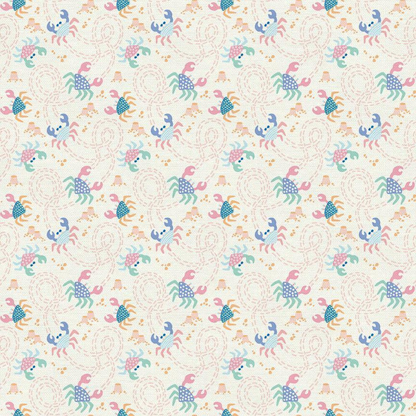 Pastel sea crab Fabrics design
