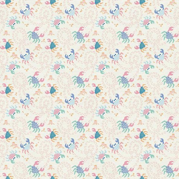 Pastel sea crab Fabrics design