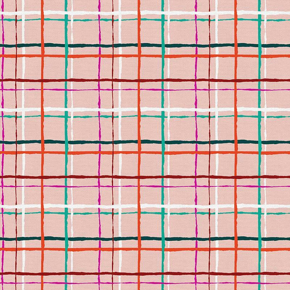 Pink Green Christmas plaid cotton Fabrics design