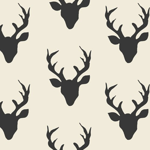 Deer Buck Forest Night in CANVAS fabrics design