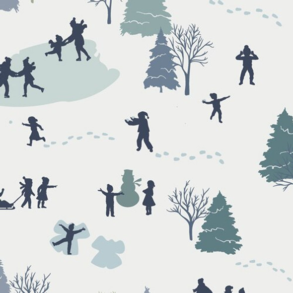 Snowman winter Art Gallery Fabrics design