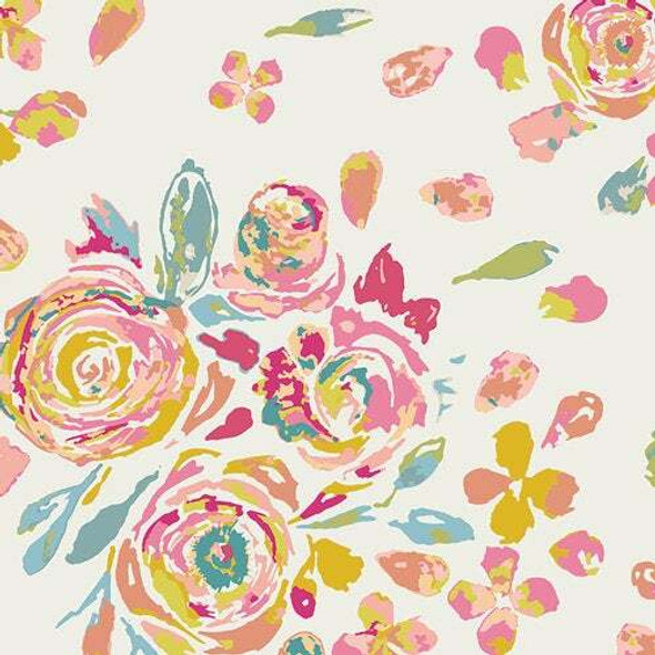 Swifting Floral Fond fabrics design