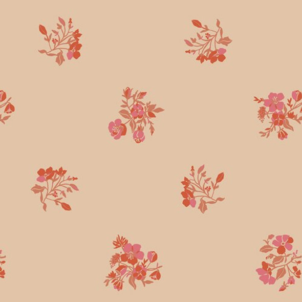 Creamy floral cotton fabrics design