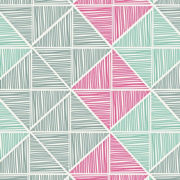 Chalk & Paint Angular Strings Coated fabrics design