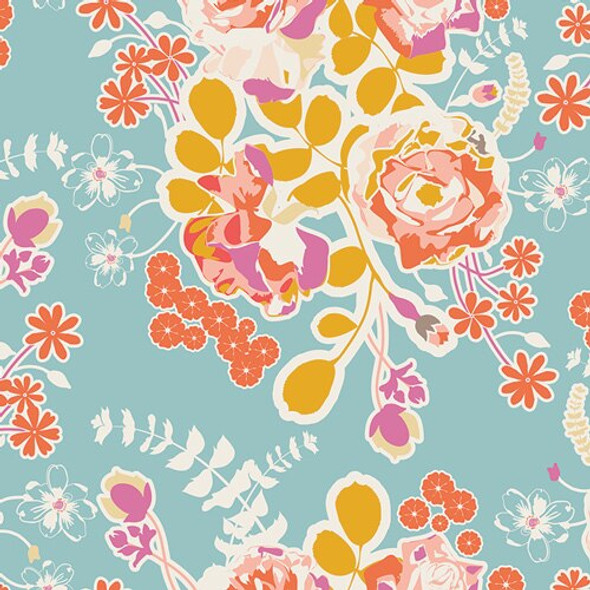 Orchard Blossom Spring cotton fabrics design
