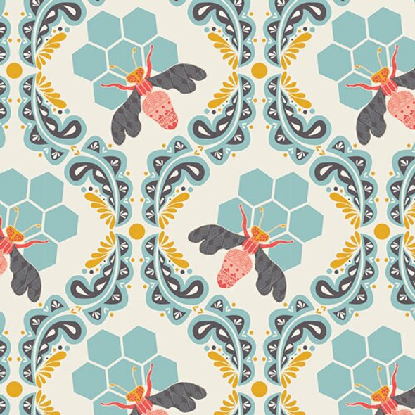Bee Sweet Morning cotton fabrics design