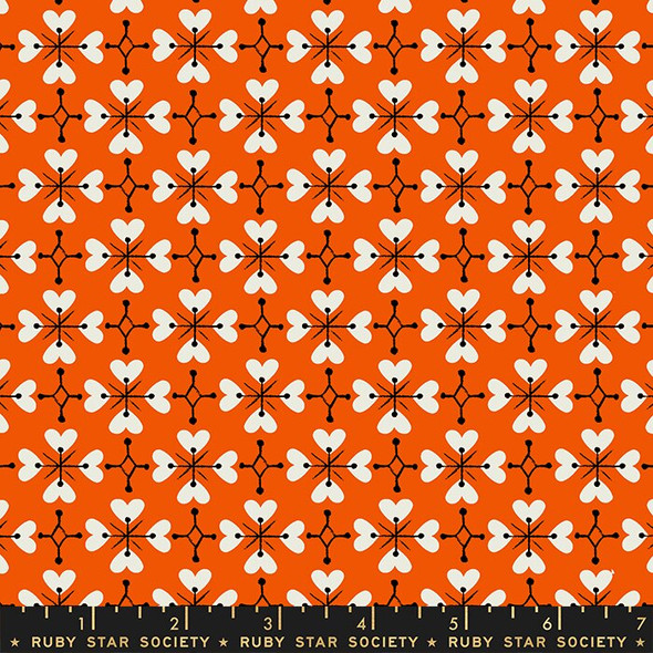 Red Coeur de Fleur fabrics design