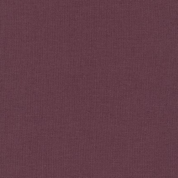 Plum Essex Linen fabric, Robert Kaufman Essex Linens solid fabric, QTR YD