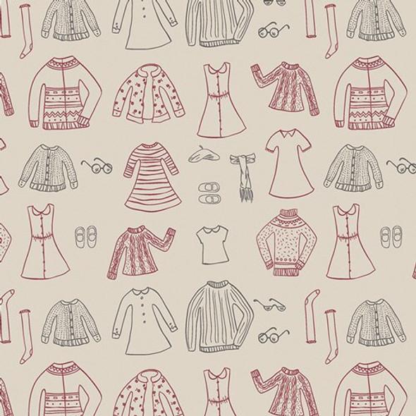 Paper Doll fabrics design