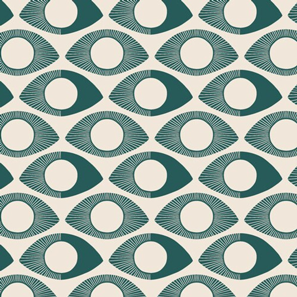 Modern Eye Turquoise cotton Fabrics design