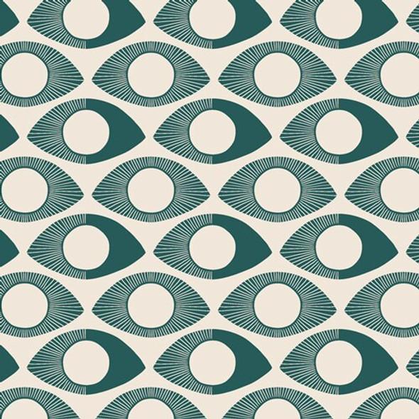 Modern Eye Turquoise cotton Fabrics design