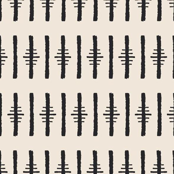Black Striped Muse fabrics design