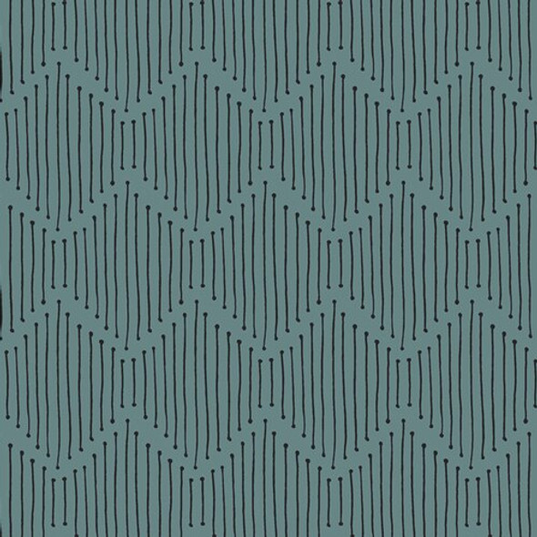 Turquoise Black Low Volume fabrics design
