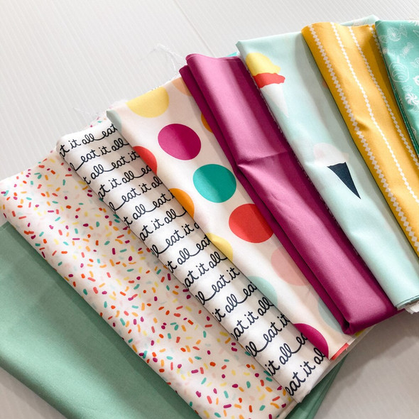 Ice Cream & Sprinkles Bundle quilt cotton Fabrics design