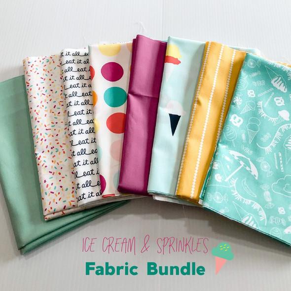 Ice Cream & Sprinkles Fabric Bundle quilt cotton fabrics design