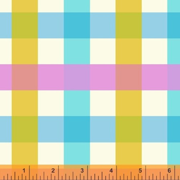 Aqua purple gingham fabrics design