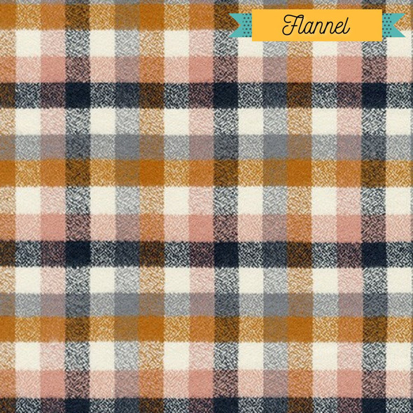 Nutmeg plaid FLANNEL fabrics design