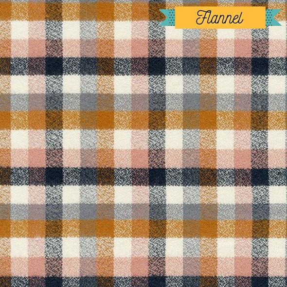 Nutmeg plaid FLANNEL fabrics design