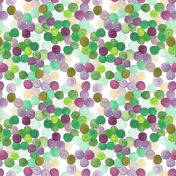 Mardi Gras Sequins cotton fabric