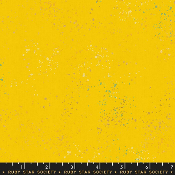 Sunshine yellow Speckled fabrics design