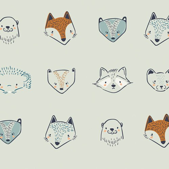 Woodland animal Furries Forester fabrics design