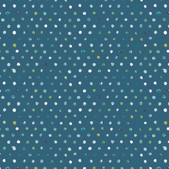 Blue green dot quilt cotton fabrics design