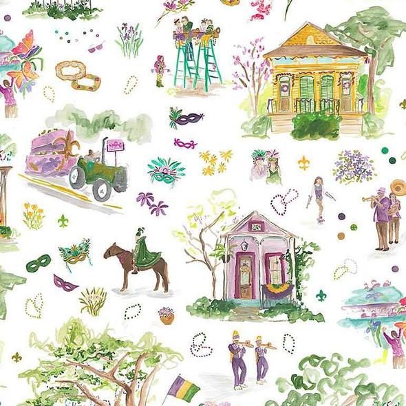 Mardi Gras Parade cotton fabrics design