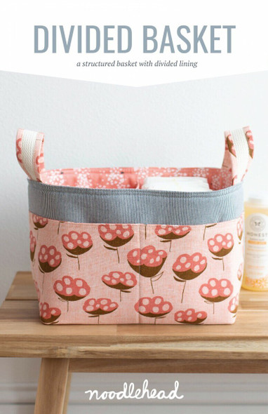 Divided Basket organizer sewing pattern