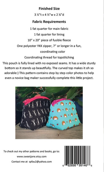 Lovely Little Pouch sewing pattern by Sweet Jane's