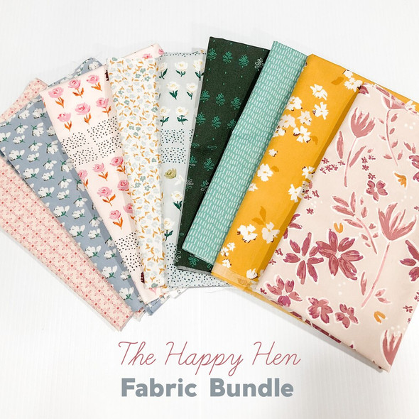 The Happy Hen 9-piece quilt cotton fabrics design