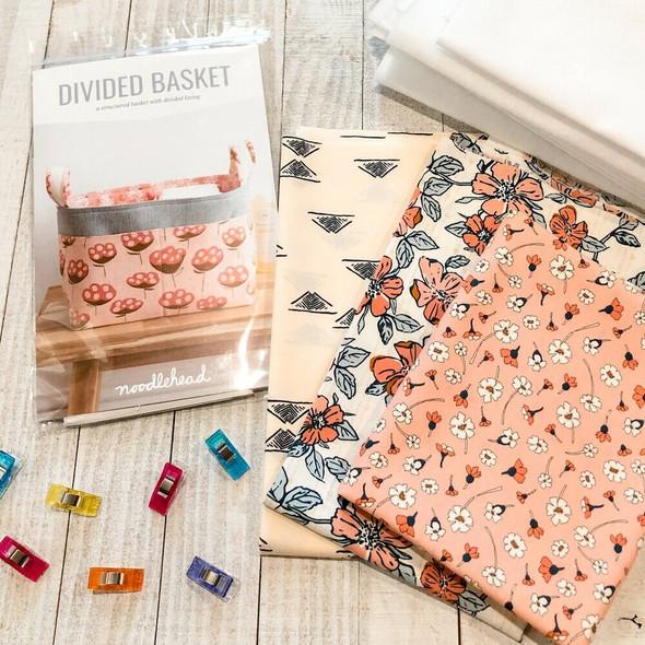 Divided Basket Project Box Kit cotton fabrics design