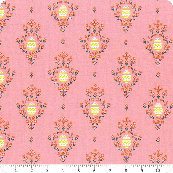 Pink Easter eggs cotton fabrics design