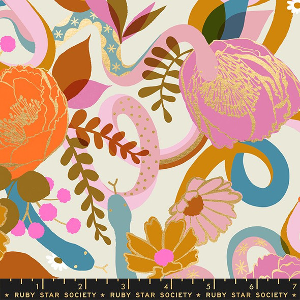Dream floral cream fabrics design