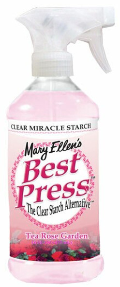 Best Press Spray Starch bottle Tea Rose Garden