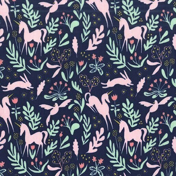 Unicorn Navy fabrics design