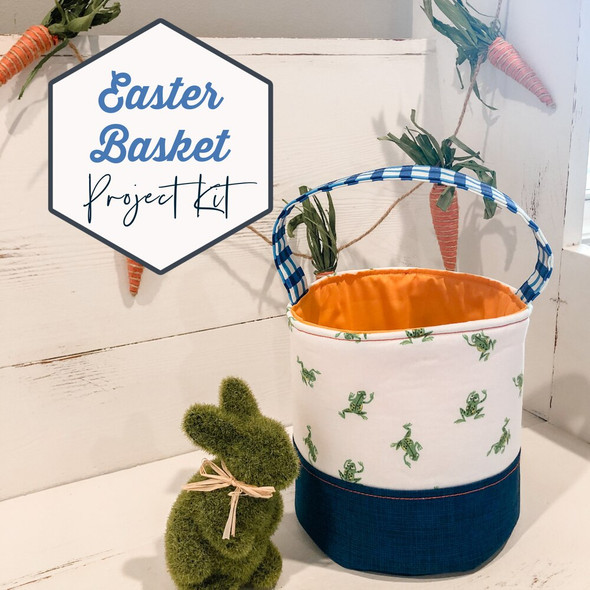 Blue Orange Green basket project kit