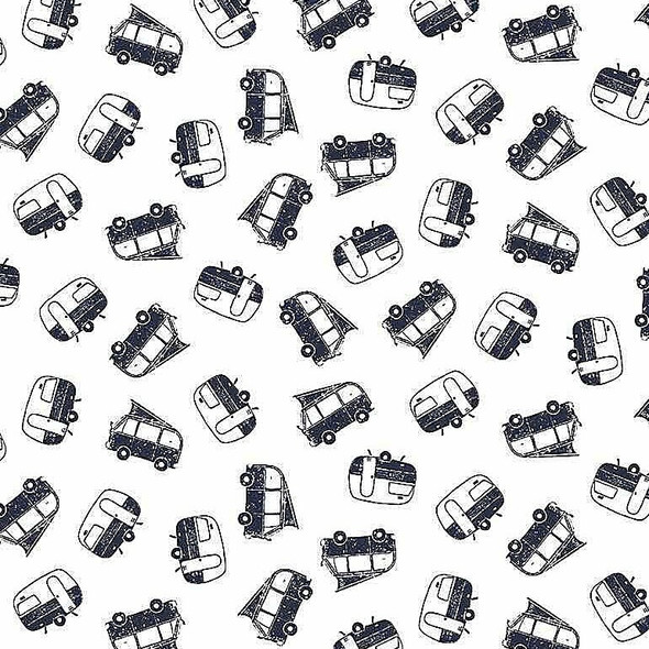 Navy White Camper fabrics design