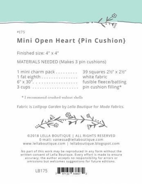 Mini Open Heart Block Pin Cushion