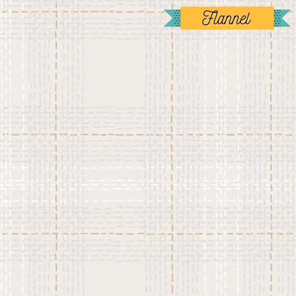 Tan Dash Plaid Flannel fabrics design