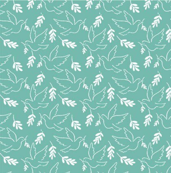 Mint Dove Giving Peace Wonderful World fabrics design