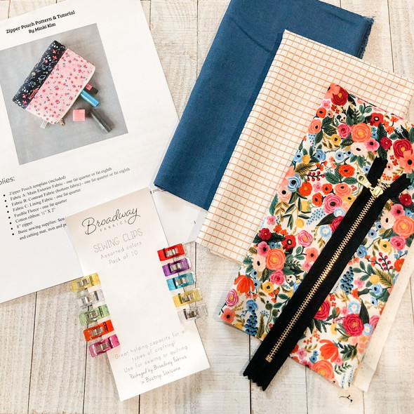 Zipper Pouch Project Box Kit-Fabric
