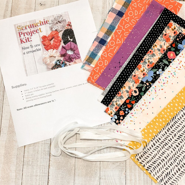 Scrunchie Project Box Kit fabric set