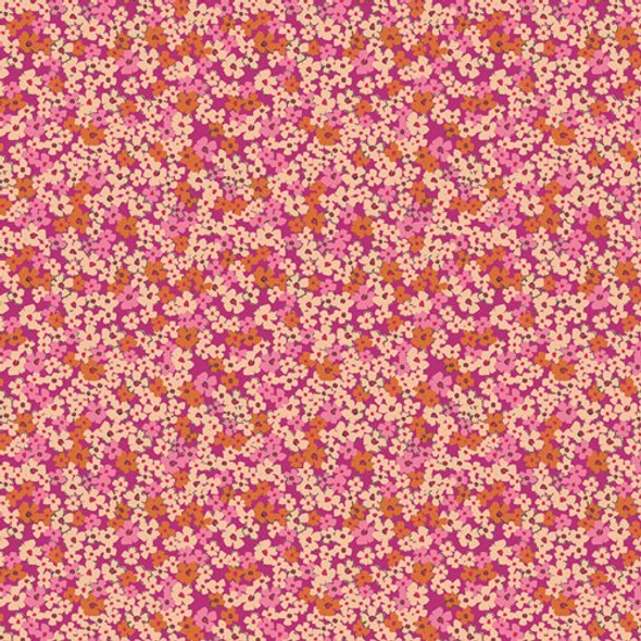 Pink Orange cotton fabrics design